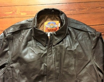 Vintage 90s Cooper A2 Goatskin Leather Bomber Jacket 46L
