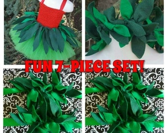 7 PIECE! Lilo Inspired Hula Costume, Lilo Costume, Lilo Tutu Dress, Lilo Headband, Wrist Cuffs, Ankle Cuffs, Lilo Cosplay