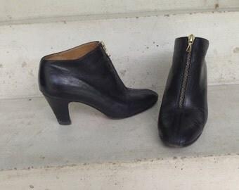 Boots, laarzen in zwart leer, grootte 37, François Villon, Franse schoenmaker.