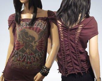 Lynyrd Skynyrd / Re-Styled / Cut / Shredded / Weaved / Sweet home Alabama /Band T Shirt