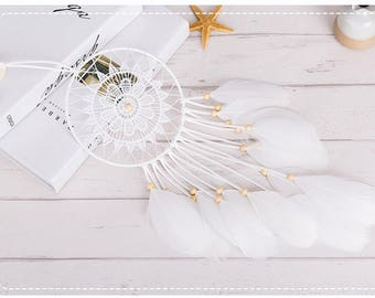 Dream Catcher Wall Hanging | Wall Hanging Home Decor white feather