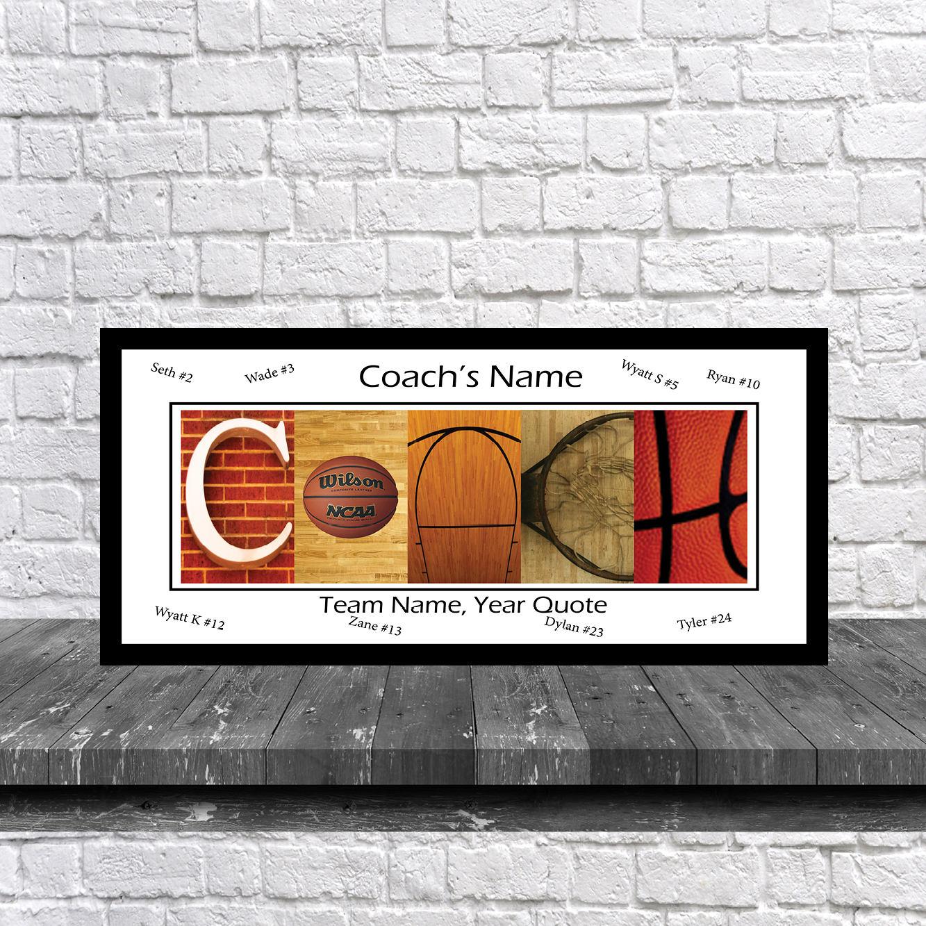 Basketball Coach Team Signature Print Basketball Coach Team