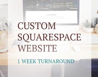 Custom Website Design on Squarespace Platform - Responsive - Website Template