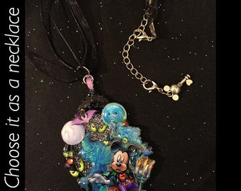 Haunted Mouse Pendant or Brooch (you choose)