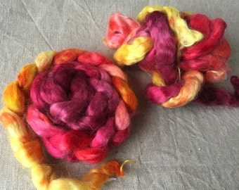 Kid mohair roving top 25, to the spinning and felting