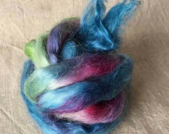 Kid mohair roving top 27, to the spinning and felting