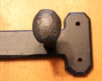 Custom 6 Railroad Spike Keyhole Coat Rack