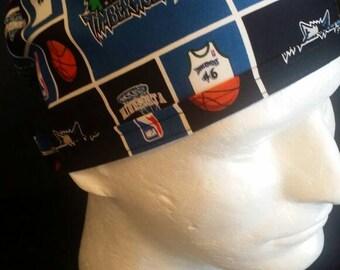 Minnesota Timberwolves NBA Basketball Tie Back Surgical Scrub Hat Cap