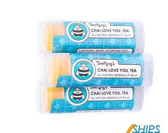 Chai Tea Beeswax Lip Balm (3 Pack)