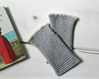 Cotton fingerless gloves with lace assorted colors, spring fingerless mitts