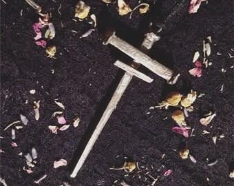 PREORDER Coffin Nail Cross Pendant