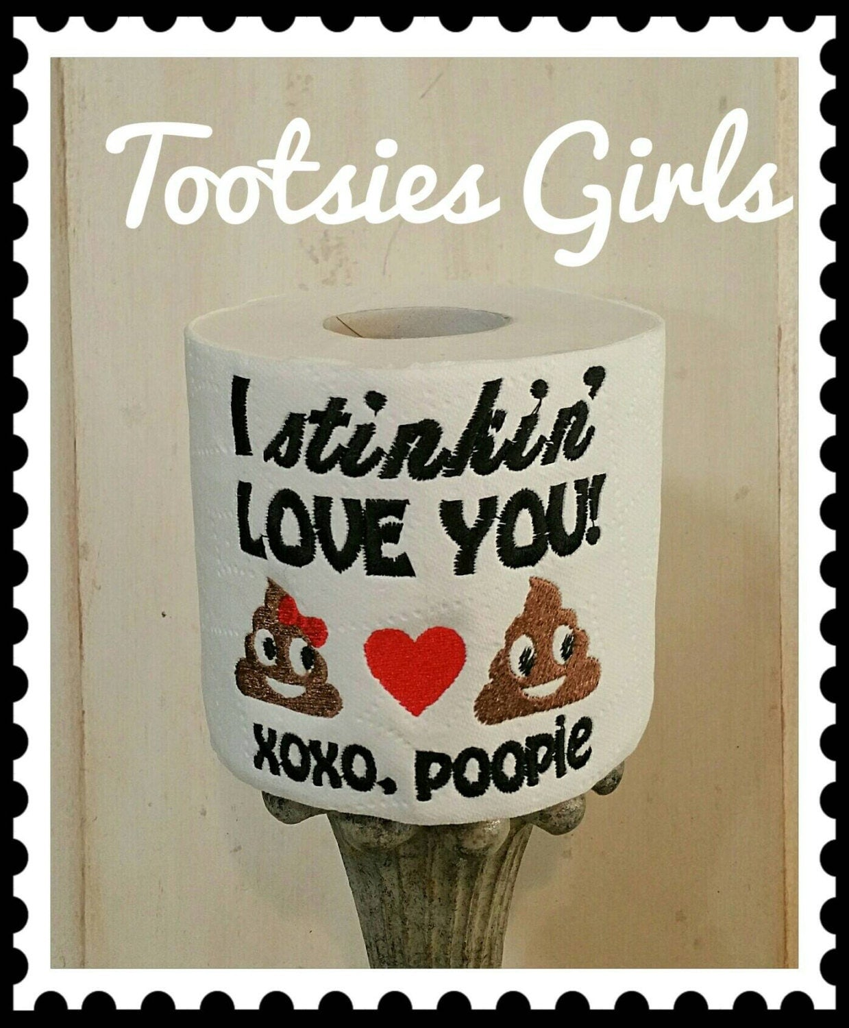 specializing in unique and quirky embroidered by tootsiesgirls poop emoji cute toilet paper gift great for boyfriend and girlfriend or i love you present personalized and fast shipping last minute gift