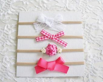 The Tickle Me Pink Bow Set