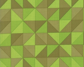 1/2 Yard - Spectrum Ombre - Half Square Triangle - Avocado - V and Co - Vanessa Christenson - Moda Fabrics - Fabric Yardage - 10860-19