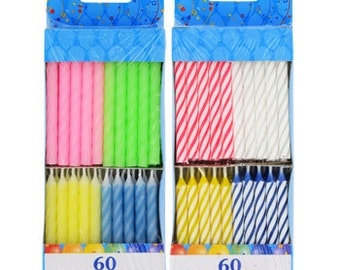Birthday candles 120 candles per set FREE SHIP