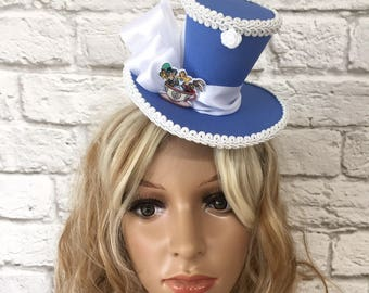 Alice in Wonderland Mini Top Hat, Mad Hatter Mini Top Hat, Tea Party Top Hat