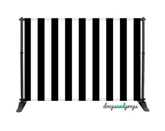 Black Vertical Stripes - Photography Backdrop