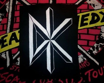 Hand painted Dead Kennedys logo patch