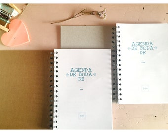 Wedding personalized daily agenda