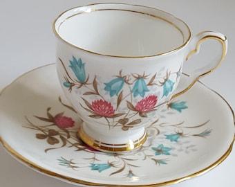 Royal Stafford Tea Cup Cloverbel Tea Cup and Saucer Vintage Tea Cup Royal Stafford