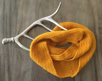 Gold Infinity Scarf // Ready to Ship