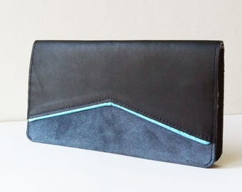 Leather wallet, leather clutch, leather cheque book holder, credit card case, coin purse, genuine leather, cotton lining,pocket,compartments