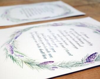 Custom Calligraphy Wedding Vows + Watercolor Design *1 - 100 words*