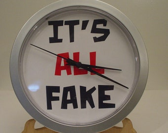 It's ALL FAKE wall clock