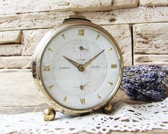 Vintage German alarm clock Junghans Trivox Silentic Mechanical clock,Retro clock,Old clock,Working clock Antique alarm clock Retro Home