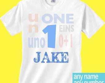 Boys 1 shirt different languages | Boys Un birthday | boys 1st birthday with different languages