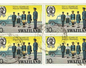 Vintage Swaziland Stamps for Crafting!