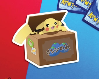 Pikachu Pokemon Fruit Box |  sticker