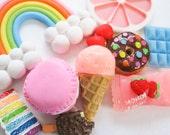 MADE TO ORDER Rainbow Sweets Handmade Custom iPhone Samsung Decoden Case