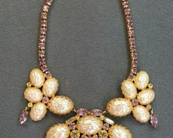 Glamorous Vintage Rhinestone Necklace- Free Shipping