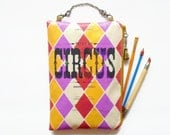 Large Waterproof Vintage Circus brushes, tools bag hanging storage make-up bag