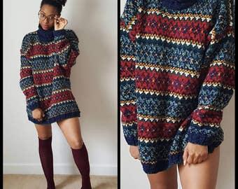 Vintage 80s/90s LizWear Turtle Neck Sweater