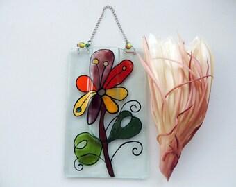 Fused glass pocket vase,painted pocket vase,wall hanging vase,reed diffuser