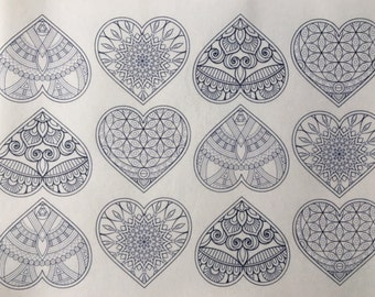 Heart Paint Your Own Edible Wafer Paper