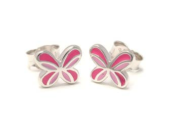 Butterfly Stud Earrings 925 sterling silver