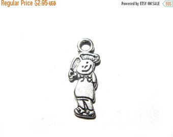 HALF PRICE 10 Silver Little Girl Charms