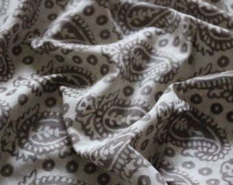 Paisely print block print fabric girls dress fabric by yard  womens clothing Indian fabric cotton fabric cotton robe sewing fabric mudcloth