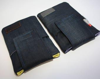 e-Reader Sleeve, ereadr geval| Ereader gewatteerde Cover / Vintage quilted Cover