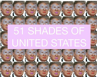 51 Shades of United States Poster