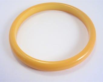 Vintage Bakelite Bangle Bracelet Marigold Tested
