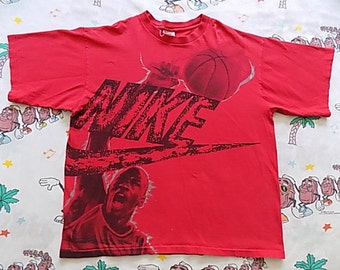 Vintage 90's Nike Air Jordan T shirt, size Large gray tag USA made