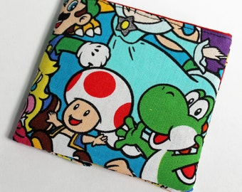 Super Mario fabric Yoshi video game geeky  wallet