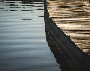 Paulina Lake, Dock Photograph, Oregon Photo, Bend, Wall Decor, Central Oregon, Fine Art, La Pine, Newberry Crater, Lustre Print Paulina Lake