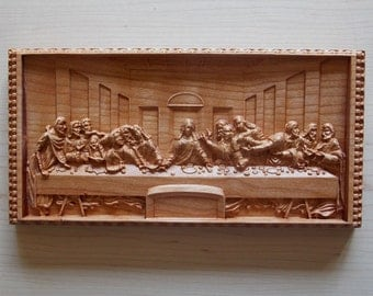 The Last Supper Wall Art wood wall art the last supperleonardo da vinci large