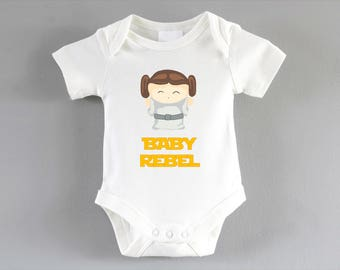 Rebel Princess Leia Onesie ~ Star Wars onesie ~ Star Wars clothing ~ Star Wars Baby ~ infant one piece ~ bodysuit ~ star wars baby grow