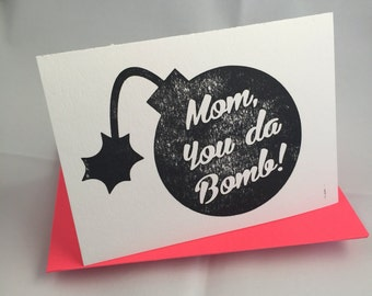 Letterpress Card for Mom